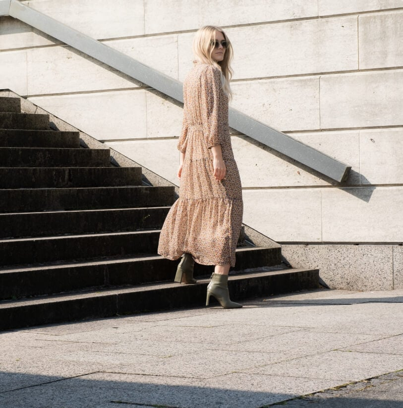Helena Multi Graphic Dress